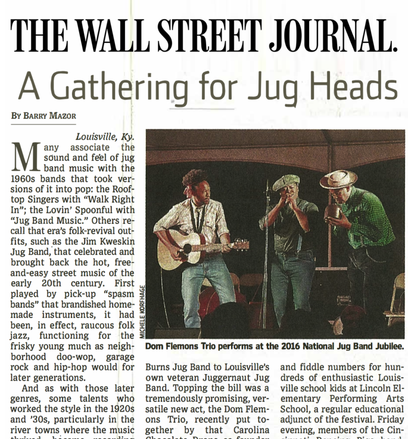 Articles From the Press Archives - National Jug Band Jubilee